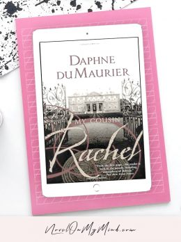 My Cousin Rachel by Daphne du Maurier – Book Cover Opened on Tablet