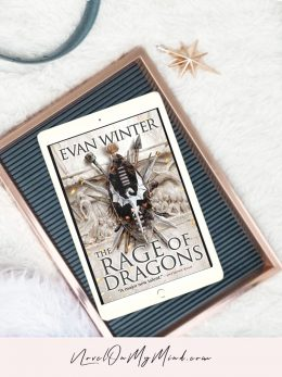 The Rage of Dragons by Evan Winter - book cover opened on tablet