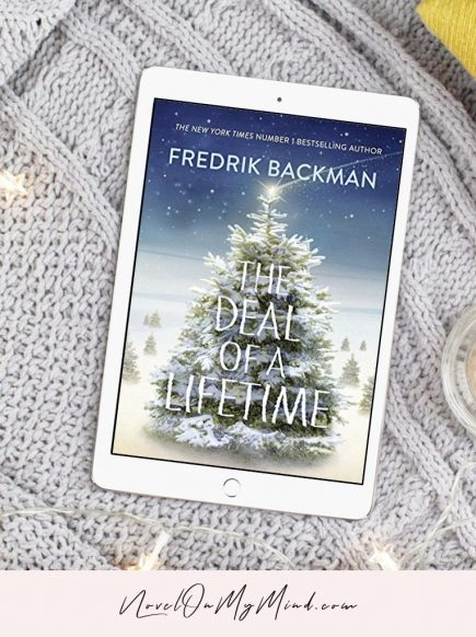 Book cover for The Deal of a Lifetime by Fredrik Backman opened on tablet