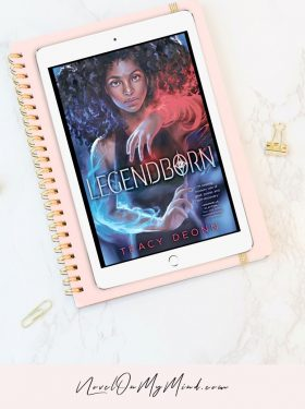 Legendborn by Tracy Deonn Book Cover Opened on a Tablet