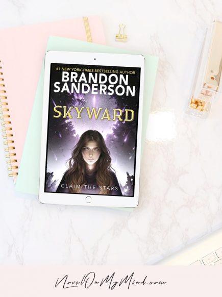 A book cover of Skyward by Brandon Sanderson