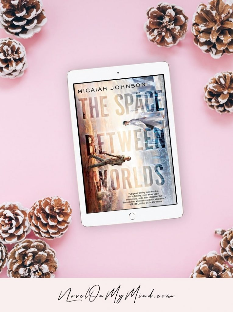 The photo of the book cover for The Space Between Worlds by Micaiah Johnson