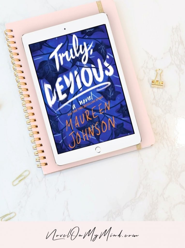 The book cover of Truly Devious by Maureen Johnson