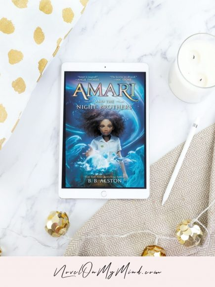 A book cover for Amari and the Night Brothers by B.B. Alston