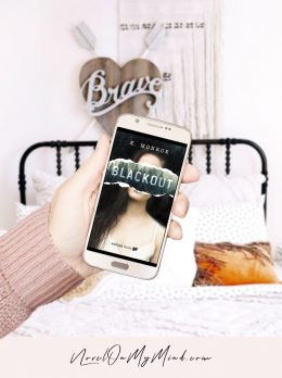 The Book Cover for Blackout by K. Monroe
